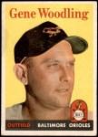 1958 Topps #398  Gene Woodling  Front Thumbnail