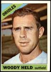 1966 Topps #136  Woodie Held  Front Thumbnail