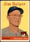 1958 Topps #201  Jim Bolger  Front Thumbnail