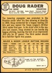 1968 Topps #332  Doug Rader  Back Thumbnail