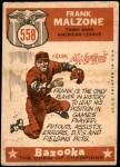 1959 Topps #558   -  Frank Malzone All-Star Back Thumbnail