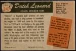 1955 Bowman #247  Dutch Leonard  Back Thumbnail