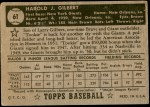 1952 Topps #61  Tookie Gilbert  Back Thumbnail