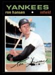 1971 Topps #419  Ron Hansen  Front Thumbnail
