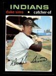 1971 Topps #172  Duke Sims  Front Thumbnail
