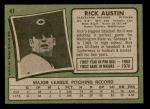 1971 Topps #41  Rick Austin  Back Thumbnail