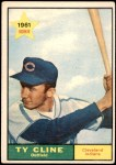 1961 Topps #421  Ty Cline  Front Thumbnail
