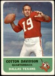 1962 Fleer #24  Cotton Davidson  Front Thumbnail