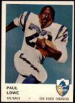 1961 Fleer #157  Paul Lowe  Front Thumbnail