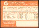 1964 Topps #521  Tom Satriano  Back Thumbnail