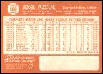 1964 Topps #199  Joe Azcue  Back Thumbnail