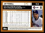 2002 Topps Traded #2 T Jay Powell  Back Thumbnail