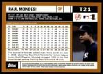 2002 Topps Traded #21 T Raul Mondesi  Back Thumbnail
