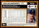 2002 Topps Traded #82 T Todd Hollandsworth  Back Thumbnail