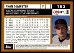 2002 Topps Traded #93 T Ryan Dempster  Back Thumbnail