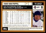 2002 Topps Traded #102 T Todd Van Poppel  Back Thumbnail