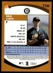 2002 Topps Traded #134 T Neal Cotts  Back Thumbnail