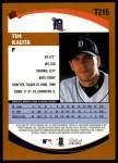2002 Topps Traded #215 T Tim Kalita  Back Thumbnail