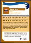2002 Topps Traded #266 T  -  Nolan Ryan Who Would Have Thought Back Thumbnail