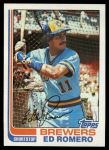 1982 Topps #408  Ed Romero  Front Thumbnail