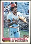 1982 Topps #604  Orlando Sanchez  Front Thumbnail