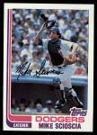 1982 Topps #642  Mike Scioscia  Front Thumbnail