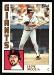 1984 Topps #98  Steve Nicosia  Front Thumbnail