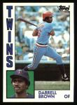 1984 Topps #193  Darrell Brown  Front Thumbnail