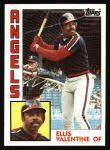 1984 Topps #236  Ellis Valentine  Front Thumbnail