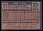 1984 Topps #429  Randy Bush  Back Thumbnail