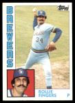 1984 Topps #495  Rollie Fingers  Front Thumbnail