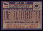 1984 Topps #532  Eric Show  Back Thumbnail