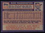 1984 Topps #623  Ron Washington  Back Thumbnail