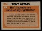 1983 Topps #1   -  Tony Armas Record Breaker Back Thumbnail