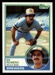 1983 Topps #271  Ed Romero  Front Thumbnail