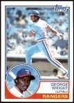 1983 Topps #299  George Wright  Front Thumbnail