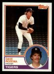 1983 Topps #562  Dave Rozema  Front Thumbnail