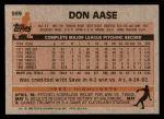 1983 Topps #599  Don Aase  Back Thumbnail