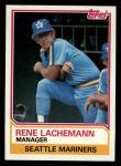 1983 Topps #336  Rene Lachemann  Front Thumbnail