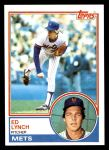 1983 Topps #601  Ed Lynch  Front Thumbnail