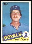 1985 Topps #244  Mike Jones  Front Thumbnail