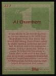 1985 Topps #277  Al Chambers  Back Thumbnail
