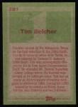 1985 Topps #281  Tim Belcher  Back Thumbnail