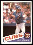 1985 Topps #589  Bob Dernier  Front Thumbnail