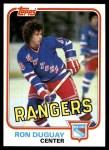 1981 Topps #96 E Ron Duguay  Front Thumbnail