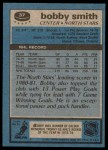 1981 Topps #37  Bobby Smith  Back Thumbnail