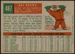 1959 Topps #487  Hal Brown  Back Thumbnail