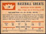 1960 Fleer #9  Mordecai Brown  Back Thumbnail