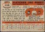 1956 Topps #110  Joe Perry  Back Thumbnail