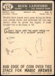 1959 Topps #152  Buck Lansford  Back Thumbnail